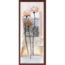 Keretezett kép, keret, fa, kész, csendélet, virág, csokor, növény