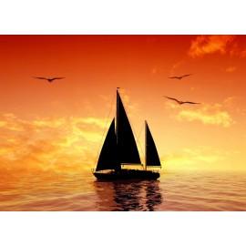 Óriáskép, Extra kép, Vitorlázás a naplementében 100x139