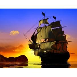 Óriáskép, Extra kép, Hajó a naplementében 100x130