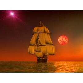 Óriáskép, Extra kép, Hajó a csillagok alatt 100x133