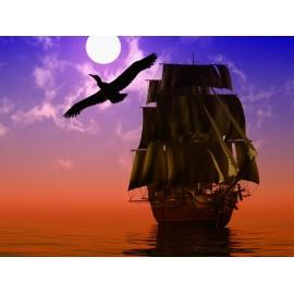 Óriáskép, Extra kép, Hajó a naplementében 100x133