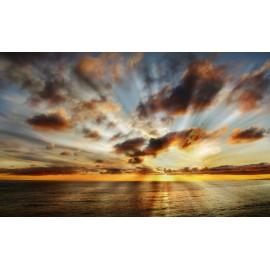 Óriáskép, Extra kép, Felkelő nap a tengeren 100x164
