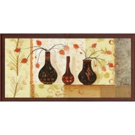 Keretezett kép, keret, fa, kész, csendélet, virág, virágok, váza