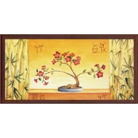 Keretezett kép, keret, fa, kész, csendélet, virág, virágok