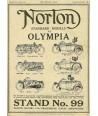 24x33cm, Ingyen posta, fakeret, kész kép fakeretben, Új Vászonkép, Norton Motorok, Reklám, Plakát